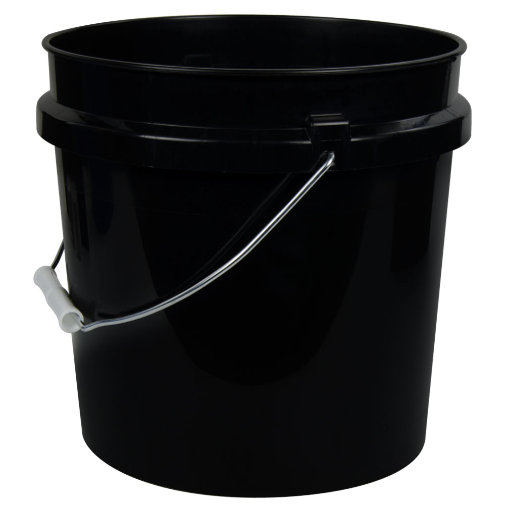 Black 2 Gallon HDPE Bucket