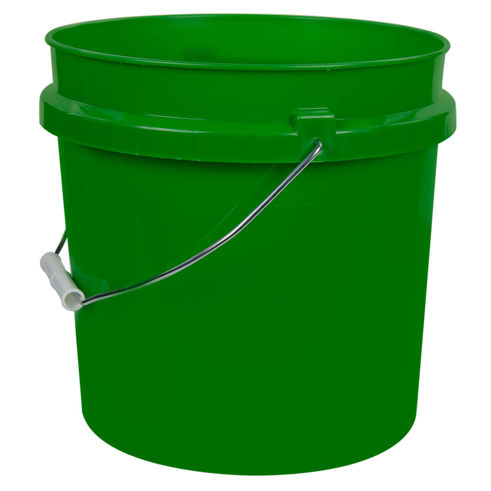 Green 2 Gallon HDPE Bucket