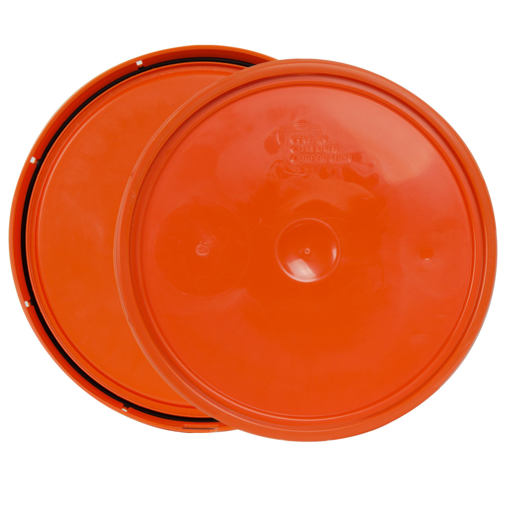 Orange 2 Gallon Lid with Tear Tab