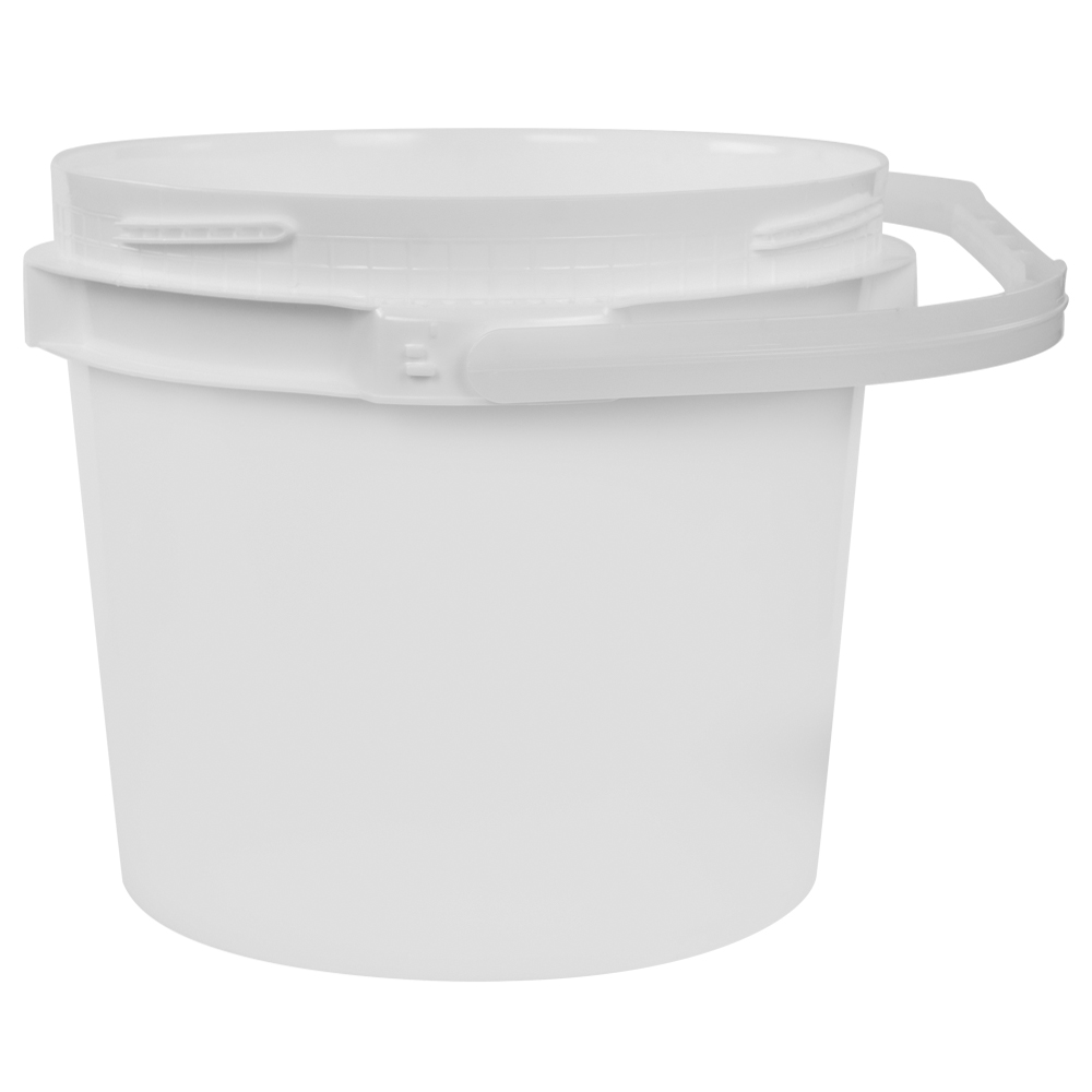 2.5 Gallon Lite Latch® White Bucket