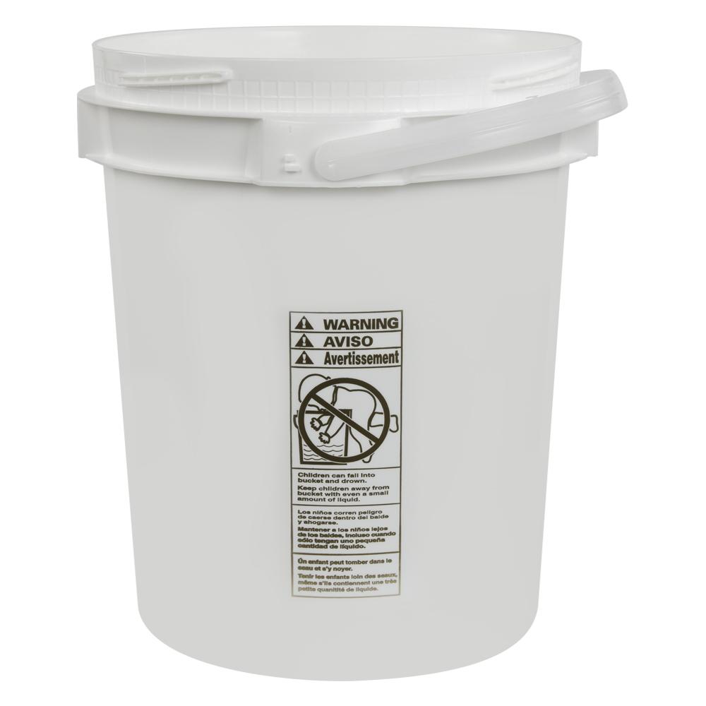 5 Gallon Lite Latch® White Bucket