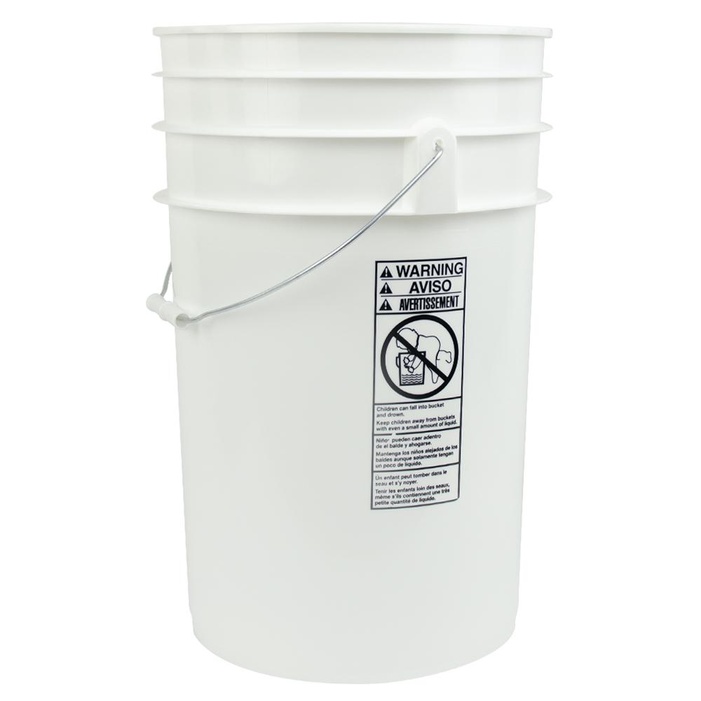 White 6-1/2 Gallon Bucket
