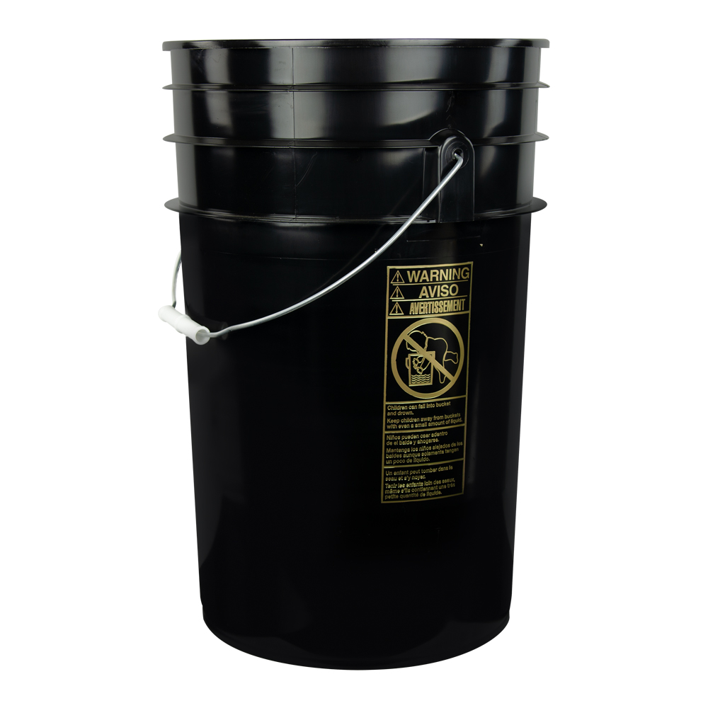 Black 6.5 Gallon Bucket