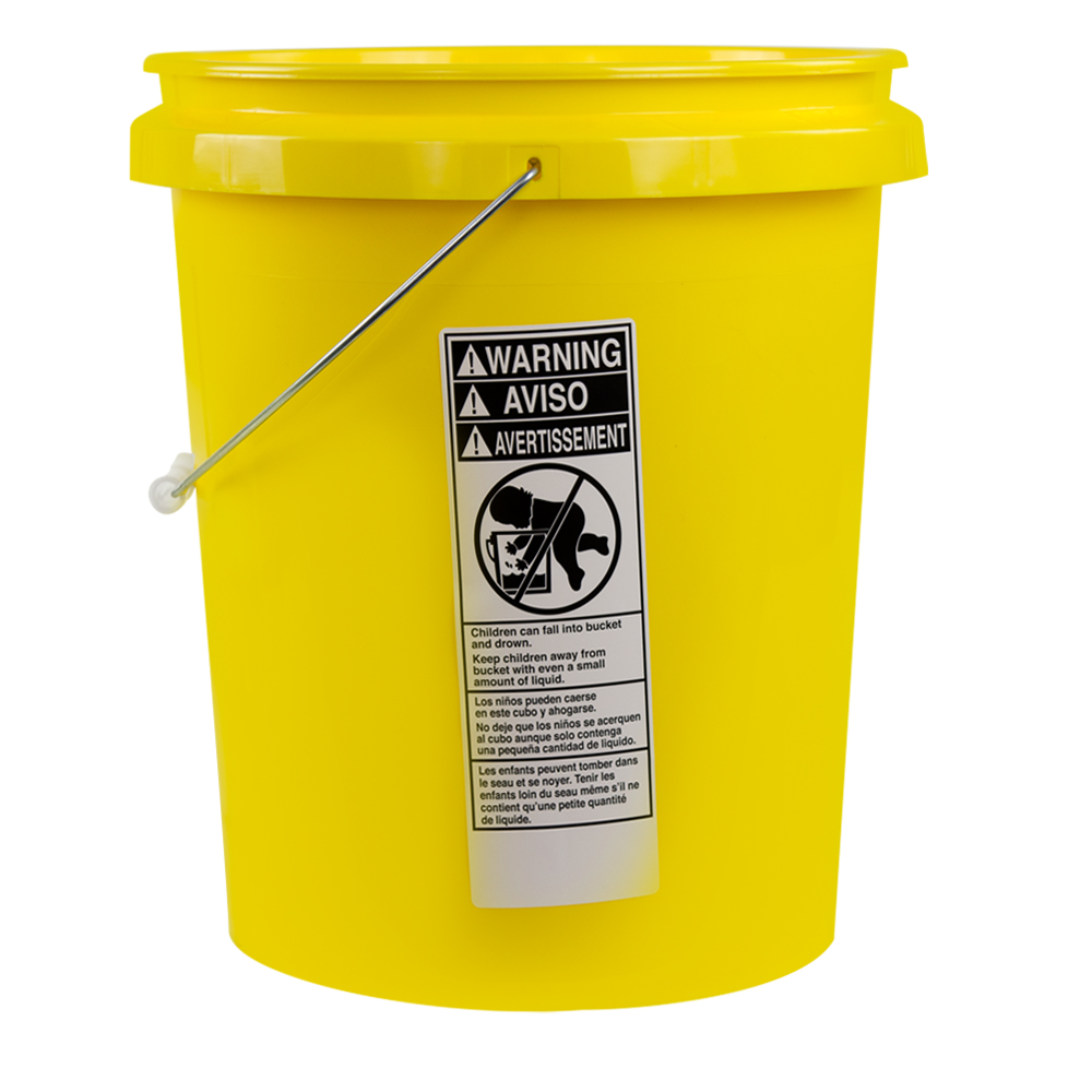 Economy Yellow 5 Gallon Bucket