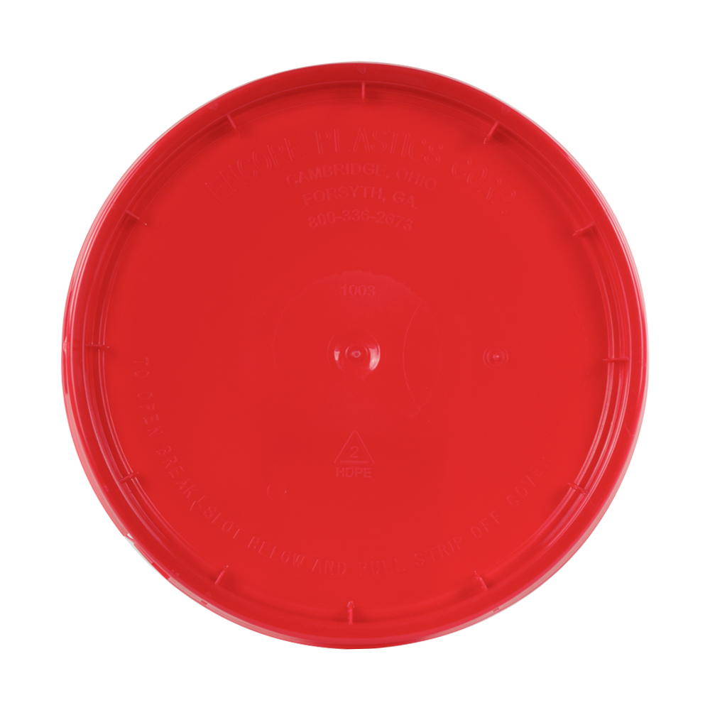 Red Tear Strip Lid w/ Gasket