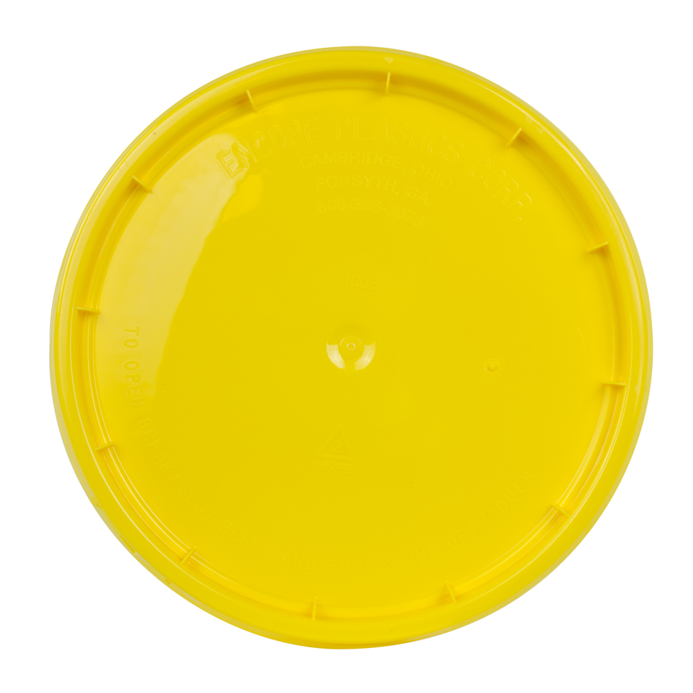 Yellow Tear Strip Lid w/ Gasket