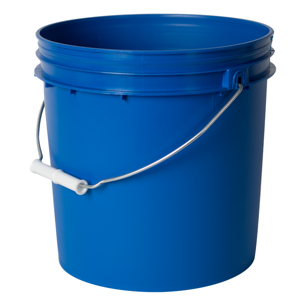 Chevron Blue 2 Gallon HDPE Bucket