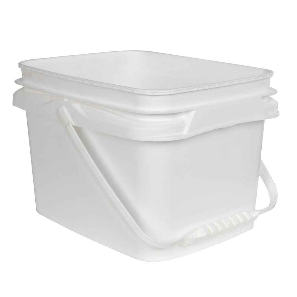 1.3 Gallon/5 Liter InPack Polypropylene Rectangular Pail with Handle