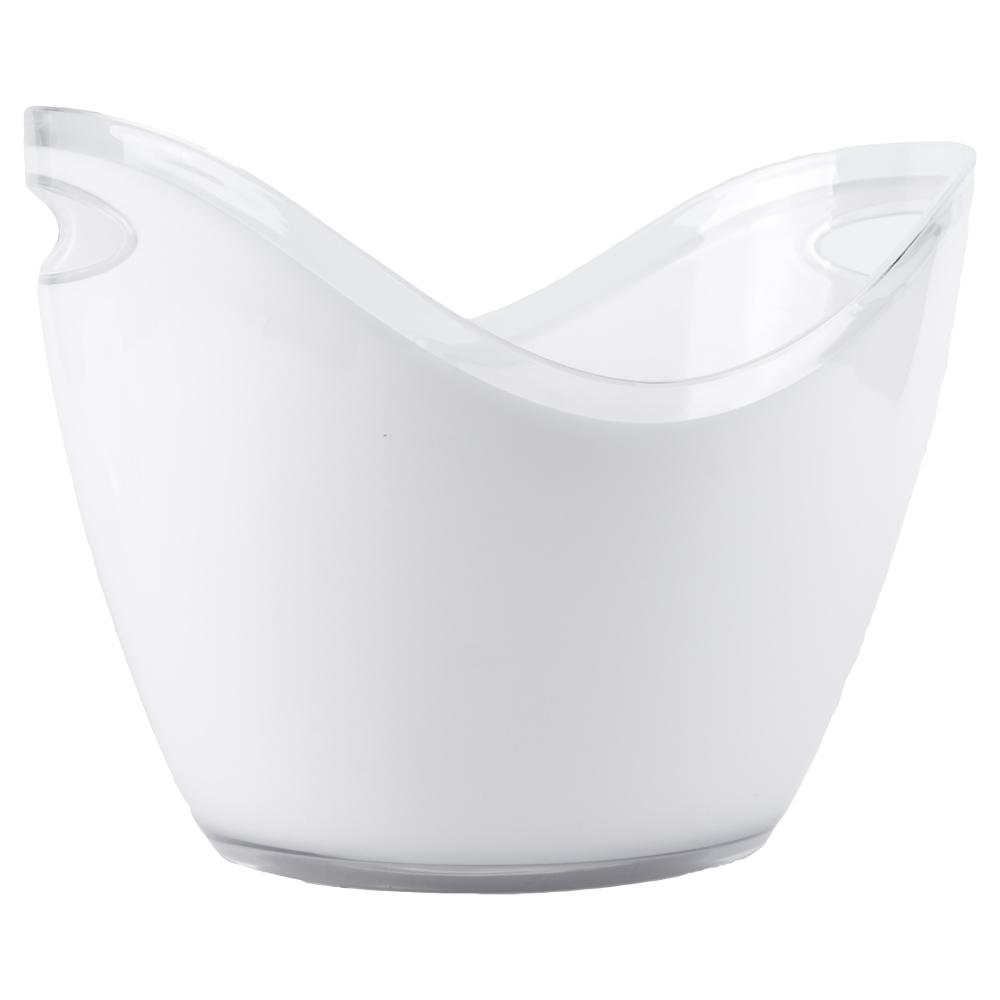 4L White Premium Ice Bucket