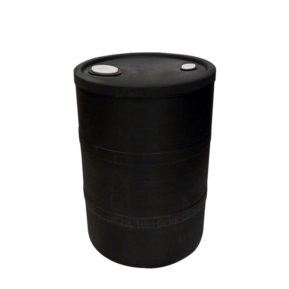 """15 Gallon Black Closed Head Drum 15.75"""" Dia x 22.5"""" H"""
