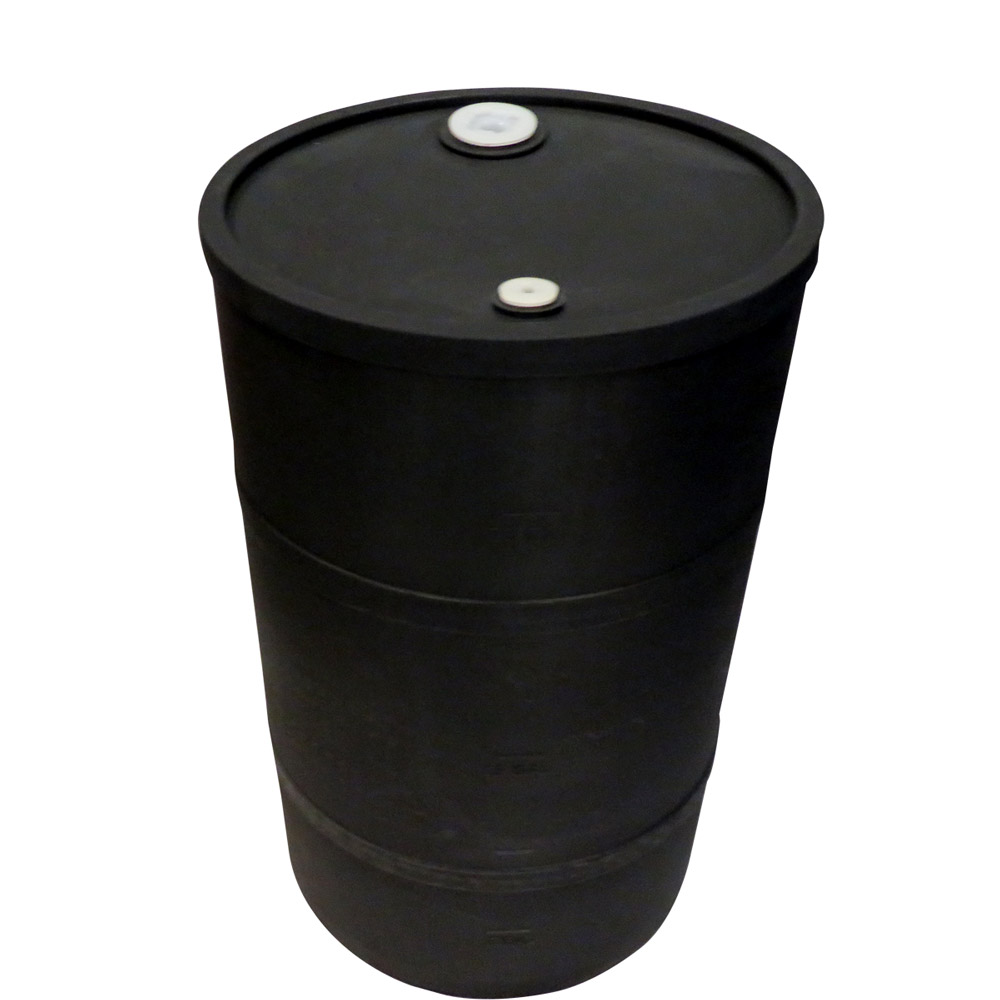 "30 Gallon Black Closed Head Drum 18.375"" Dia. x 30.25"" H"