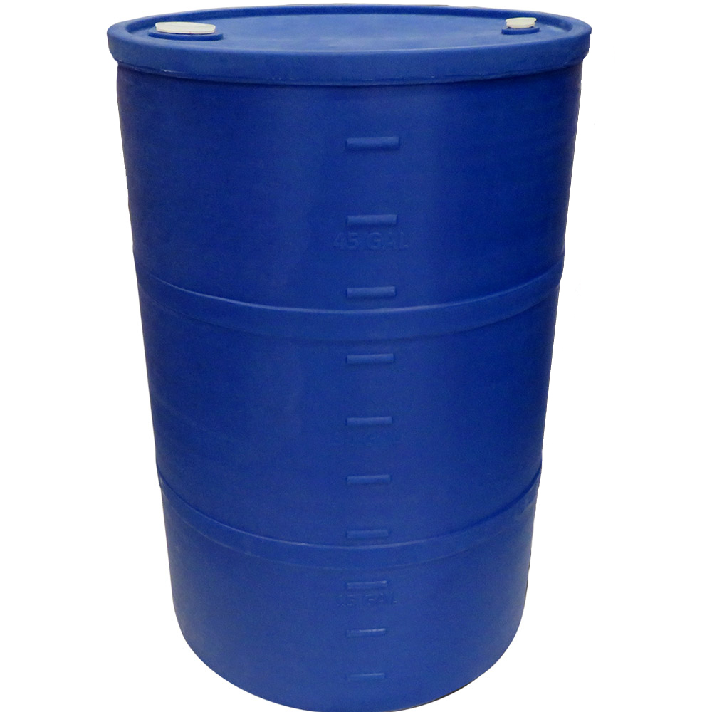 "55 Gallon Blue Closed Head Drum 23.25"" Dia. x 35"" H"