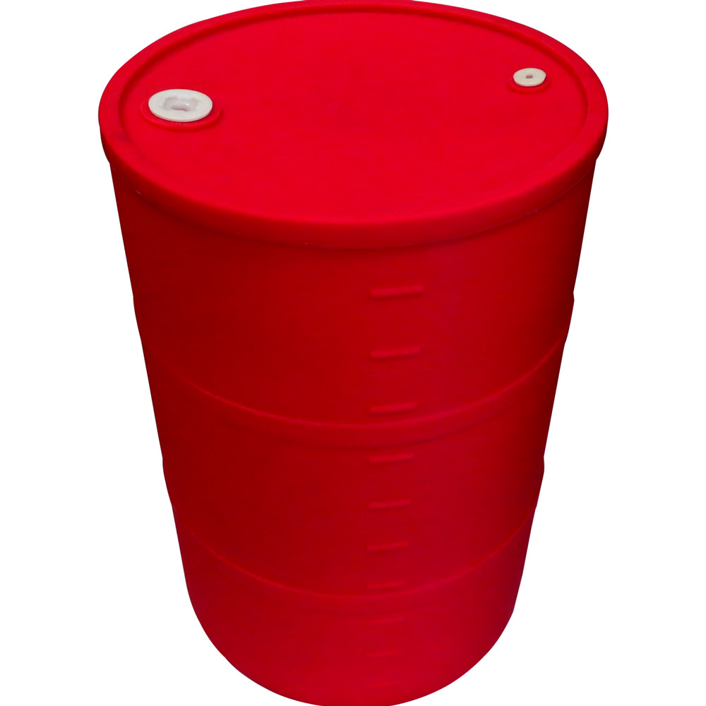 "55 Gallon Red Closed Head Drum 23.25"" Dia. x 35"" H"