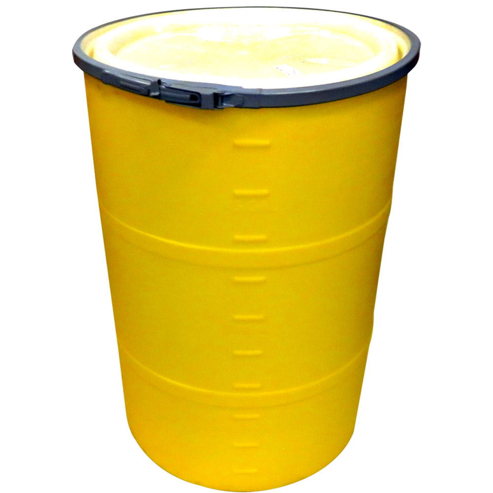 55 gallon yellow open head drum dia w band x 35 h u s plastic corp. Black Bedroom Furniture Sets. Home Design Ideas