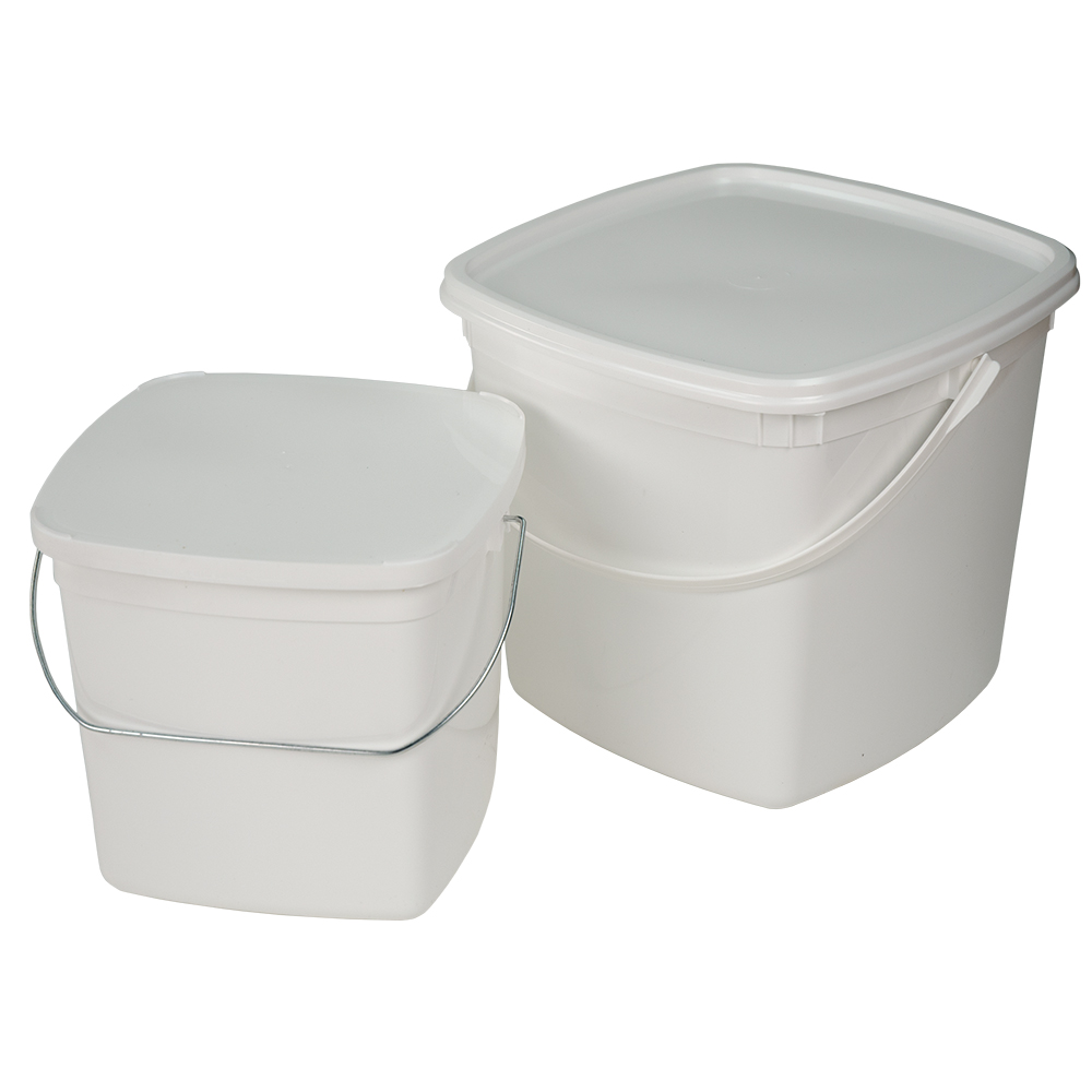 Square Pails with Lids