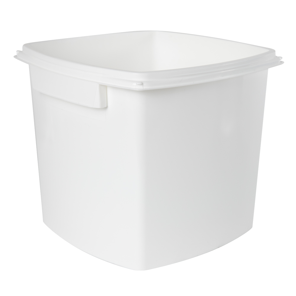 1 Gallon/3.8 Liter Polypropylene TrustPack+ Square Pail (Lid Sold Separately)