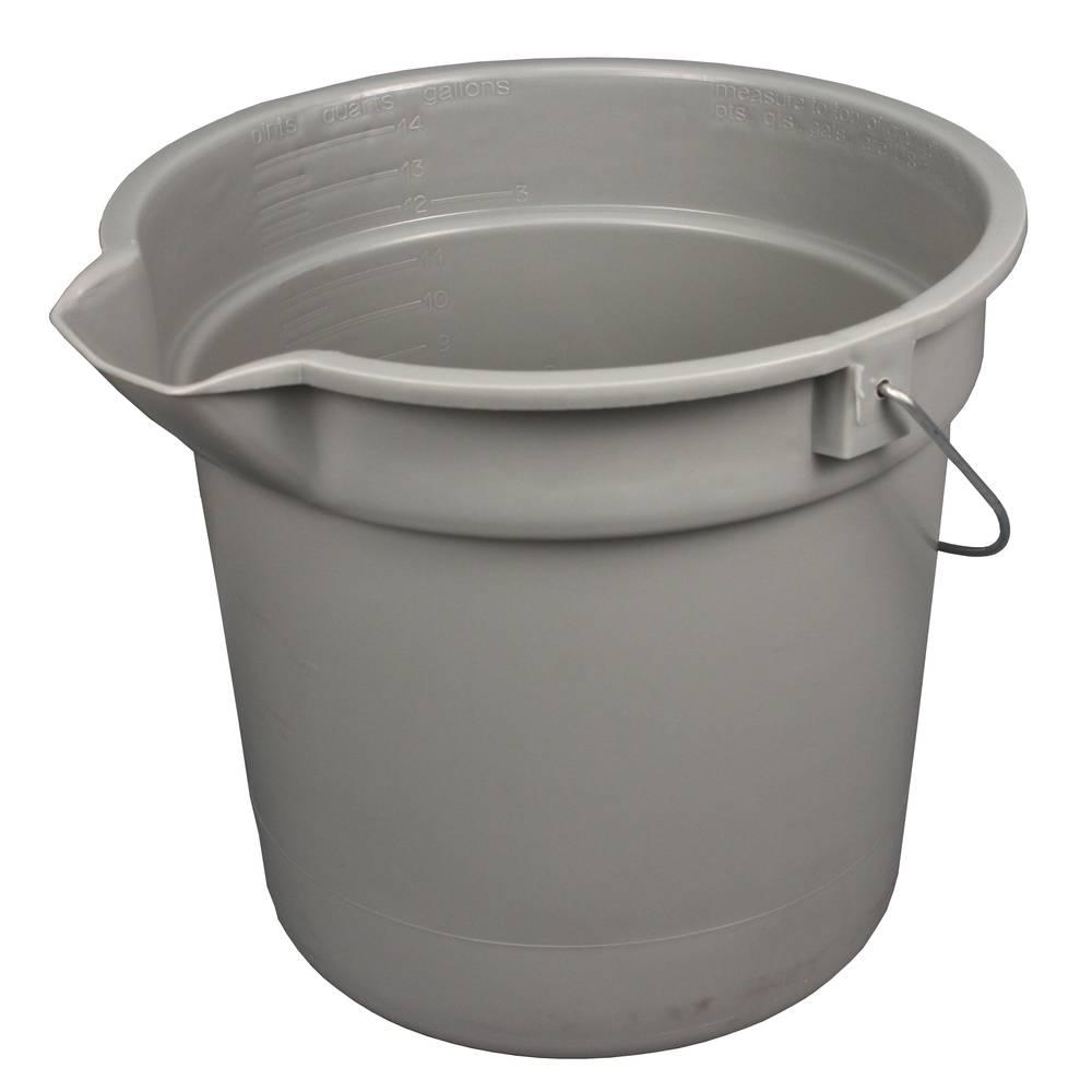 14 Quart Gray Deluxe Heavy Duty Bucket