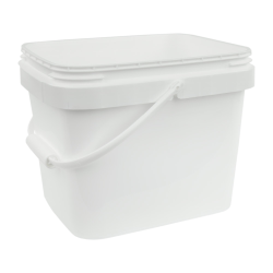 3 Gallon White EZ Stor Pail with Handle