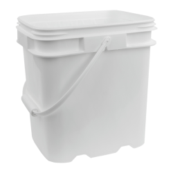 4 Gallon White EZ Stor Pail with Handle
