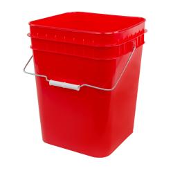 Economy Red 4 Gallon Square Bucket