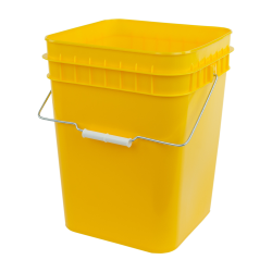 Economy Yellow 4 Gallon Square Bucket