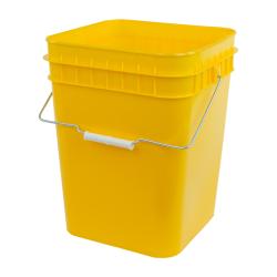 Economy Yellow 4 Gallon Square Bucket