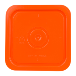 Economy Orange 4 Gallon Square Lid for Bucket # 2512