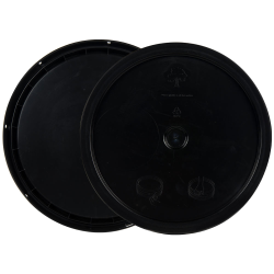 Black 3.5 to 5.25 Gallon HDPE Lid with Tear Tab
