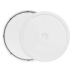 White 3.5 to 5.25 Gallon HDPE Lid with Tear Tab