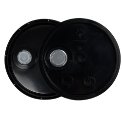 Black 3.5 to 5.25 Gallon HDPE Lid with Pour Spout