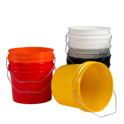 1 Gallon HDPE Colored Pails