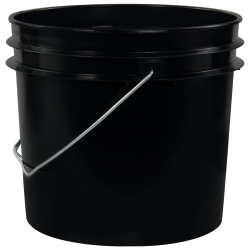 Black 1 Gallon HDPE Bucket