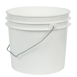White 1 Gallon HDPE Bucket