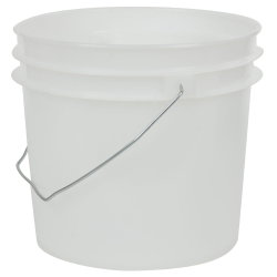 Natural 1 Gallon HDPE Bucket