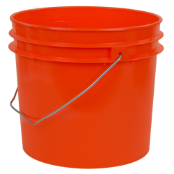 Orange 1 Gallon HDPE Bucket