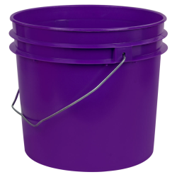 Purple 1 Gallon HDPE Bucket