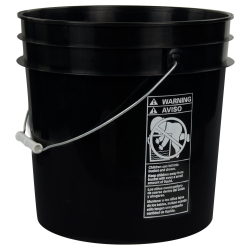Black 4.25 Gallon HDPE Bucket