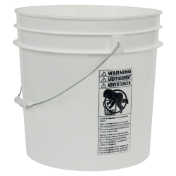 White 4.25 Gallon HDPE Bucket