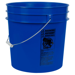 Blue 4.25 Gallon HDPE Bucket
