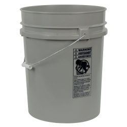 Gray 5.25 Gallon HDPE Bucket