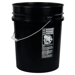 Black 5.25 Gallon HDPE Bucket