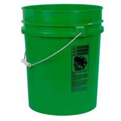 Green 5.25 Gallon HDPE Bucket