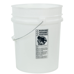 Natural 5.25 Gallon HDPE Bucket