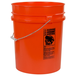 Orange 5.25 Gallon HDPE Bucket