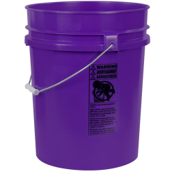 Purple 5.25 Gallon HDPE Bucket