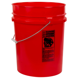 Red 5.25 Gallon HDPE Bucket
