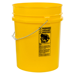 Yellow 5.25 Gallon HDPE Bucket