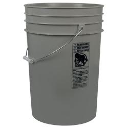 Gray 6 Gallon HDPE Bucket