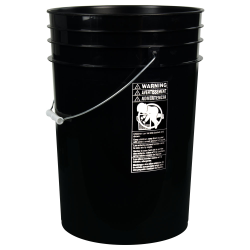 Black 6 Gallon HDPE Bucket