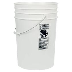 White 6 Gallon HDPE Bucket